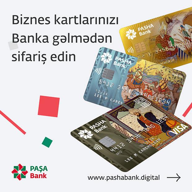 PAŞA Bankdan Biznes kartını onlayn sifariş et!