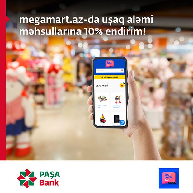 Megamart - Ümumdünya Uşaqlar Günü münasibətilə PAŞA Bank kart sahibləri üçün xüsusi fürsətlər!