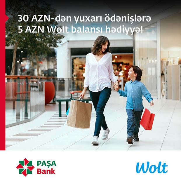 Wolt - Ümumdünya Uşaqlar Günü münasibətilə PAŞA Bank kart sahibləri üçün xüsusi fürsətlər!