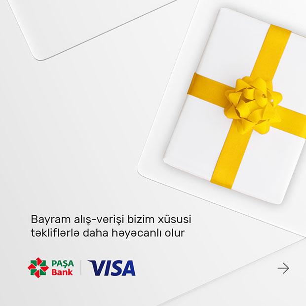 """PAŞA Bank """"VISA"""" kart sahibləri üçün 3 xidmət"""